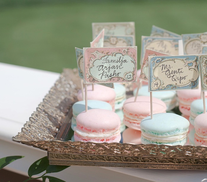 Macarons from an Elegant Parisian First Birthday Garden Party on Kara's Party Ideas | KarasPartyIdeas.com (19)