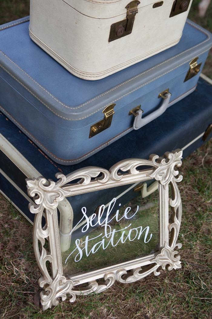 Selfie Station from an Elegant Parisian First Birthday Garden Party on Kara's Party Ideas | KarasPartyIdeas.com (16)