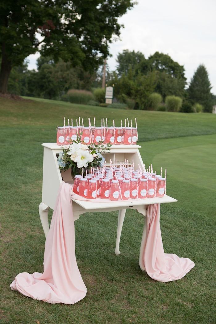 Beverage table from an Elegant Parisian First Birthday Garden Party on Kara's Party Ideas | KarasPartyIdeas.com (13)