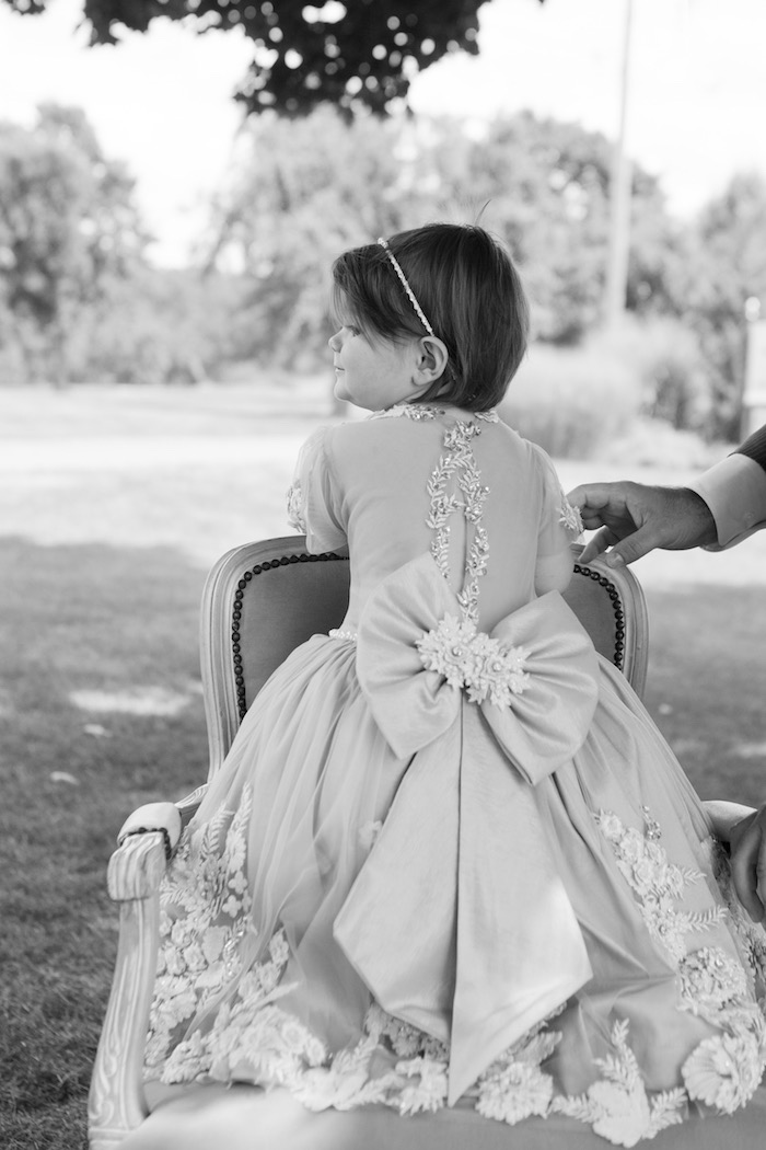 Gorgeous dress back from an Elegant Parisian First Birthday Garden Party on Kara's Party Ideas | KarasPartyIdeas.com (34)