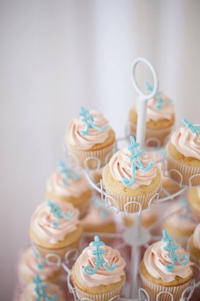 Eiffel Tower Cupcakes from an Elegant Parisian First Birthday Garden Party on Kara's Party Ideas | KarasPartyIdeas.com (27)