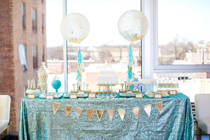 Elegant Tiffany's Inspired Birthday Party on Kara's Party Ideas | KarasPartyIdeas.com (31)