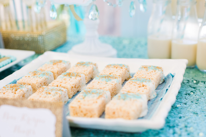 Rice Krispie Treats from an Elegant Tiffany's Inspired Birthday Party on Kara's Party Ideas | KarasPartyIdeas.com (28)