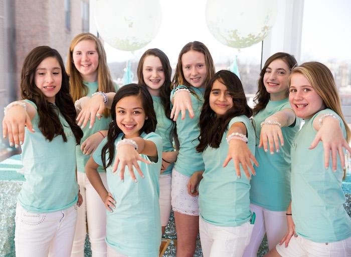 Elegant Tiffany's Inspired Birthday Party on Kara's Party Ideas | KarasPartyIdeas.com (6)