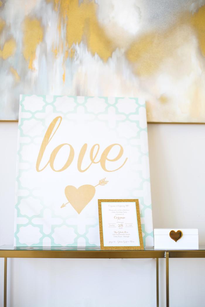 Love print from an Elegant Tiffany's Inspired Birthday Party on Kara's Party Ideas | KarasPartyIdeas.com (37)