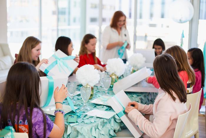 Elegant Tiffany's Inspired Birthday Party on Kara's Party Ideas | KarasPartyIdeas.com (34)