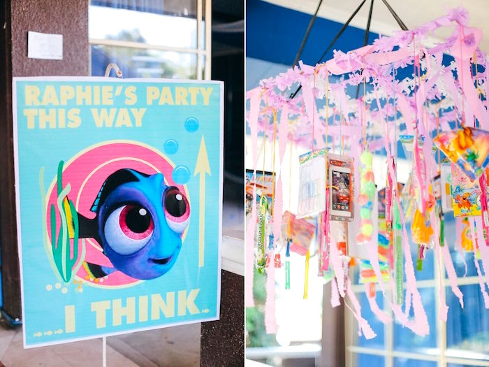 Party signage from a Finding Dory Under the Sea Birthday Party on Kara's Party Ideas | KarasPartyIdeas.com (7)