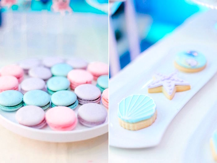 Macarons & cookies from a Finding Dory Under the Sea Birthday Party on Kara's Party Ideas | KarasPartyIdeas.com (14)
