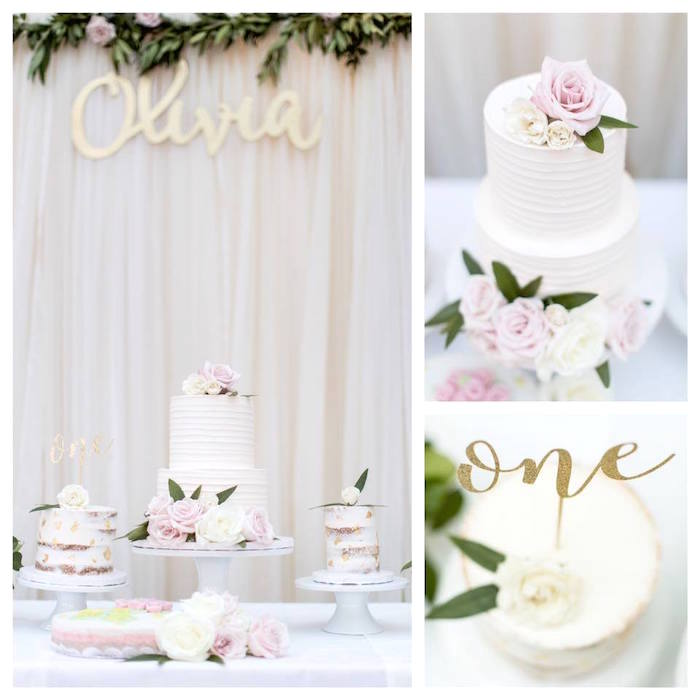 Floral First Birthday Party on Kara's Party Ideas | KarasPartyIdeas.com (4)