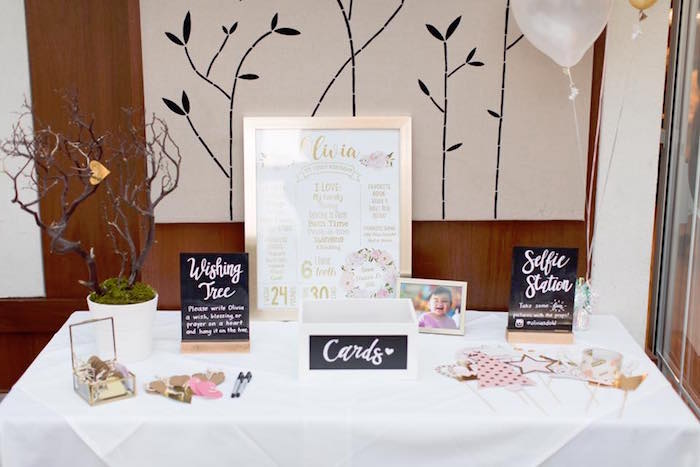 Wishing Tree Table from a Floral First Birthday Party on Kara's Party Ideas | KarasPartyIdeas.com (14)