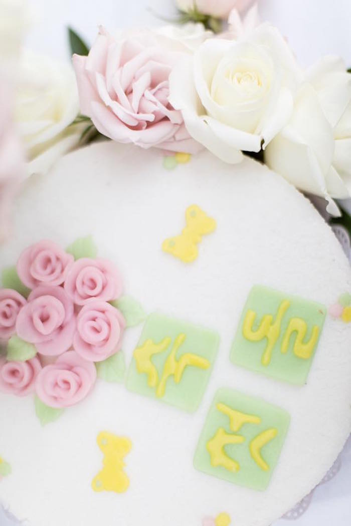 Cake top from a Floral First Birthday Party on Kara's Party Ideas | KarasPartyIdeas.com (12)