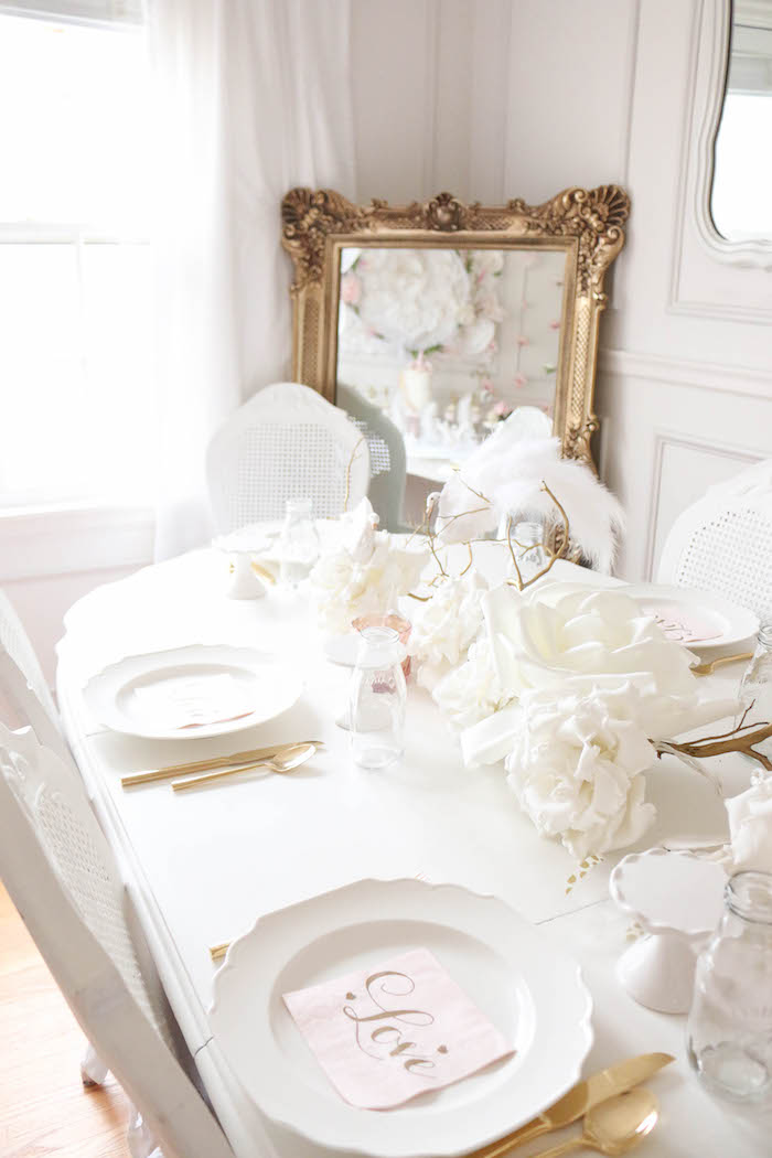 Guest table from a Floral Unicorn Birthday Party on Kara's Party Ideas | KarasPartyIdeas.com (20)