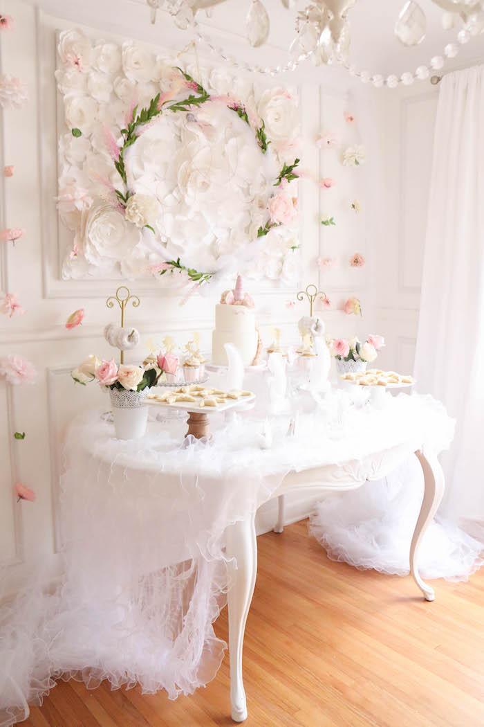 Floral Unicorn Birthday Party on Kara's Party Ideas | KarasPartyIdeas.com (18)