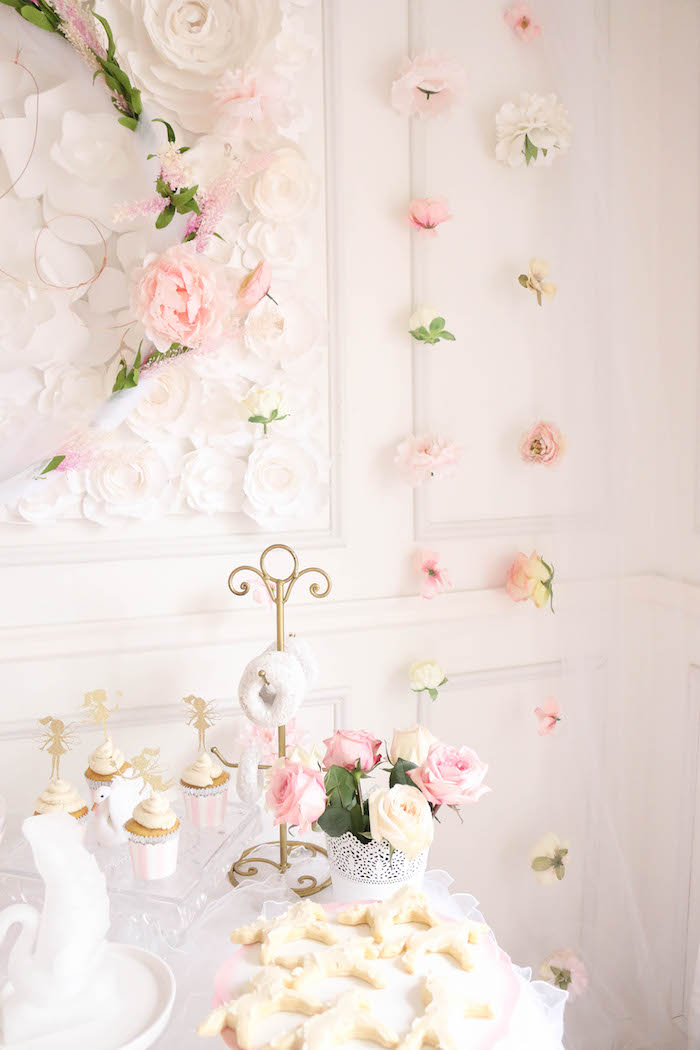 Flower garlands from a Floral Unicorn Birthday Party on Kara's Party Ideas | KarasPartyIdeas.com (26)