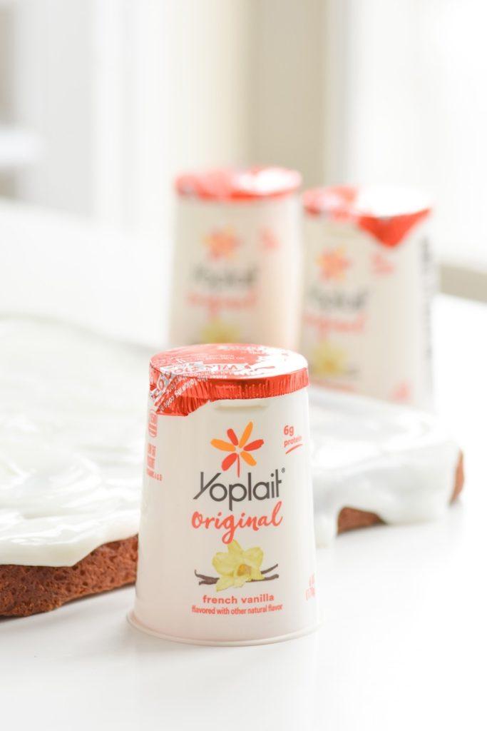 Kara S Party Ideas Yogurt Sheet Cake Recipe With Fruit