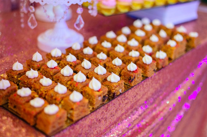 Cake squares from a Glam Royal Princess Birthday Ball on Kara's Party Ideas | KarasPartyIdeas.com (24)