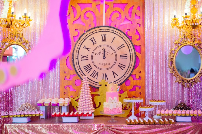 Dessert spread from a Glam Royal Princess Birthday Ball on Kara's Party Ideas | KarasPartyIdeas.com (21)