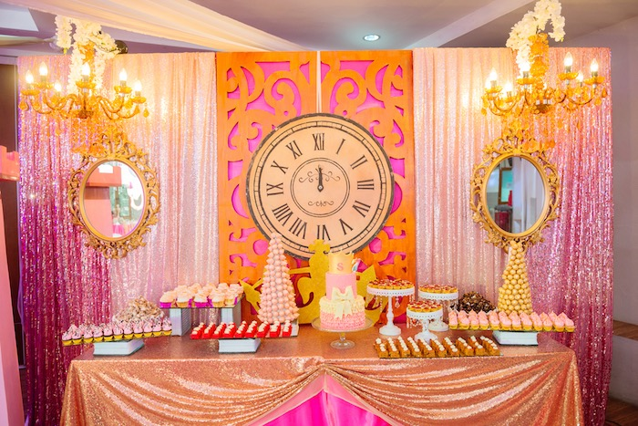Dessert table from a Glam Royal Princess Birthday Ball on Kara's Party Ideas | KarasPartyIdeas.com (10)