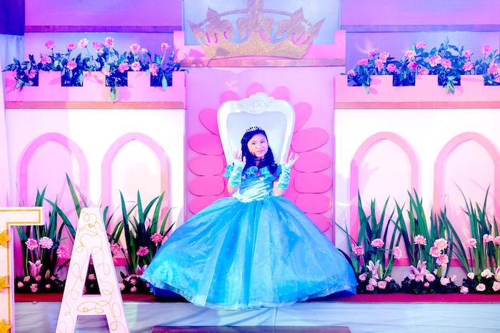 Glam Royal Princess Birthday Ball on Kara's Party Ideas   KarasPartyIdeas.com (6)