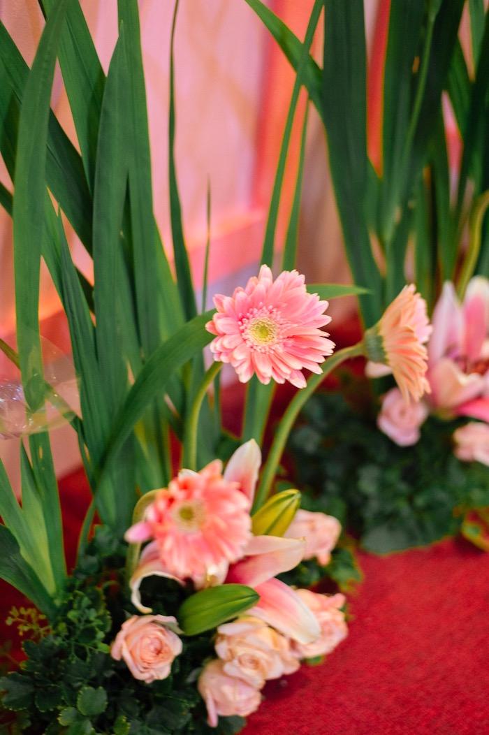 Flowers from a Glam Royal Princess Birthday Ball on Kara's Party Ideas | KarasPartyIdeas.com (33)