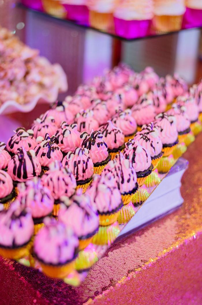 Cupcakes from a Glam Royal Princess Birthday Ball on Kara's Party Ideas | KarasPartyIdeas.com (32)