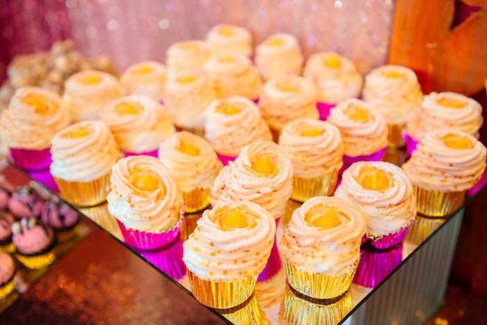 Cupcakes from a Glam Royal Princess Birthday Ball on Kara's Party Ideas   KarasPartyIdeas.com (29)
