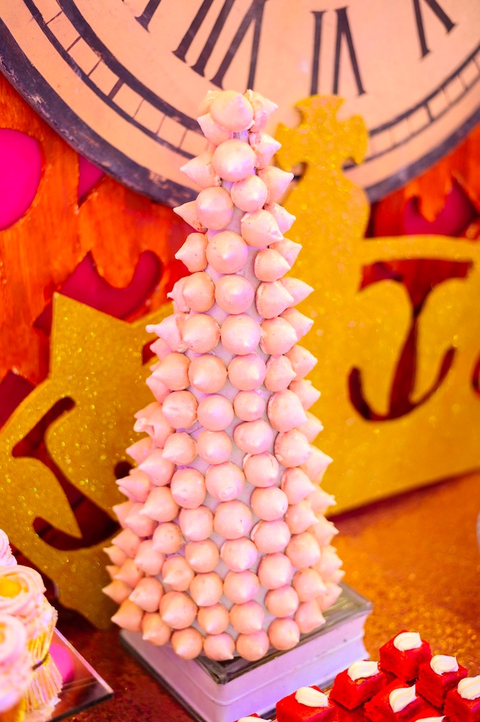 Meringue tower from a Glam Royal Princess Birthday Ball on Kara's Party Ideas | KarasPartyIdeas.com (28)