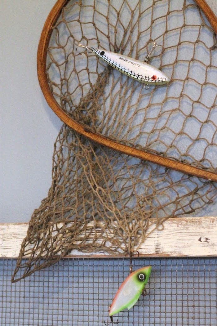 Fish net from a Gone Fishing 35th Birthday Party on Kara's Party Ideas | KarasPartyIdeas.com (5)