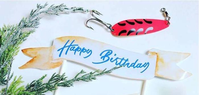 Gone Fishing 35th Birthday Party on Kara's Party Ideas   KarasPartyIdeas.com (2)
