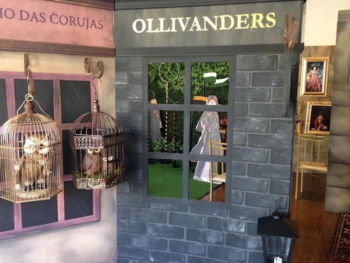 Ollivanders from a Brazilian Harry Potter Birthday Party on Kara's Party Ideas | KarasPartyIdeas.com (29)