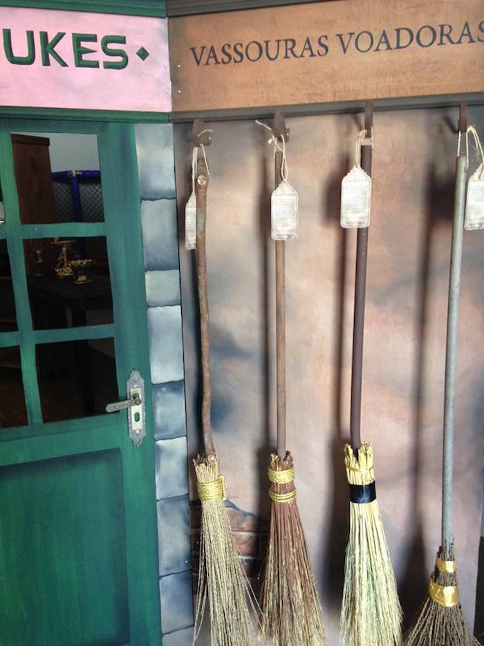 Brooms from a Harry Potter Birthday Party on Kara's Party Ideas | KarasPartyIdeas.com (28)