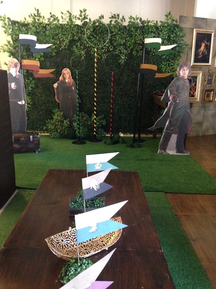 Quidditch Field from a Harry Potter Birthday Party on Kara's Party Ideas | KarasPartyIdeas.com (25)