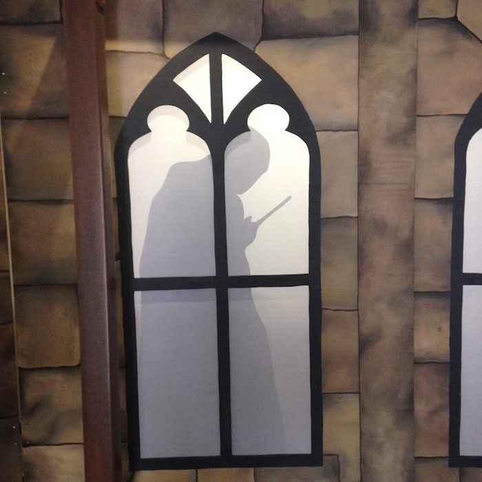 Lord Voldemort shadow from a Harry Potter Birthday Party on Kara's Party Ideas | KarasPartyIdeas.com (41)