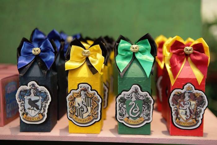 Harry Potter house favors from a Harry Potter Birthday Party on Kara's Party Ideas | KarasPartyIdeas.com (18)