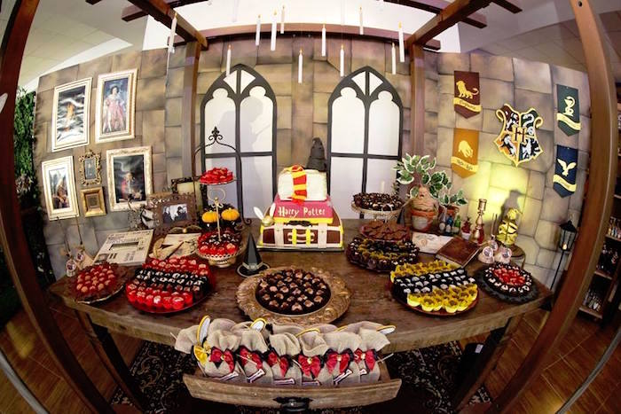 Dessert table from a Harry Potter Birthday Party on Kara's Party Ideas | KarasPartyIdeas.com (10)