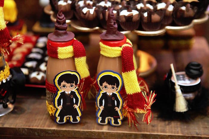 Drink bottles from a Harry Potter Birthday Party on Kara's Party Ideas | KarasPartyIdeas.com (6)