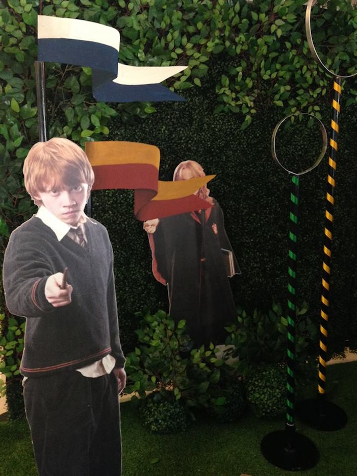 Harry Potter standees from a Harry Potter Birthday Party on Kara's Party Ideas | KarasPartyIdeas.com (39)