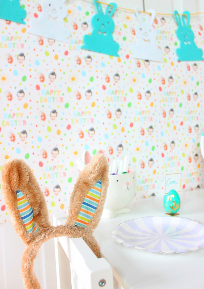 Custom backdrop from a Hoppy Easter Party for Kids on Kara's Party Ideas | KarasPartyIdeas.com (14)