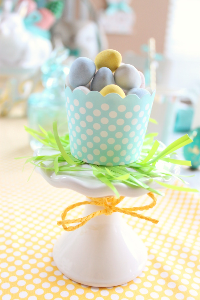 Robin eggs from a Hoppy Easter Party for Kids on Kara's Party Ideas | KarasPartyIdeas.com (10)