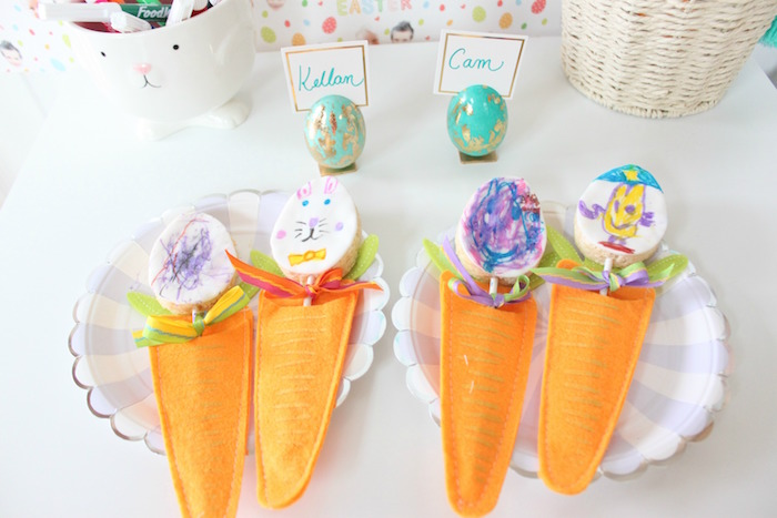 Decorated eggs from a Hoppy Easter Party for Kids on Kara's Party Ideas | KarasPartyIdeas.com (22)