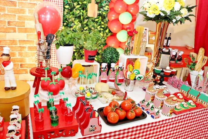 Kara\'s Party Ideas Italian Pizzeria Birthday Party | Kara\'s Party ...