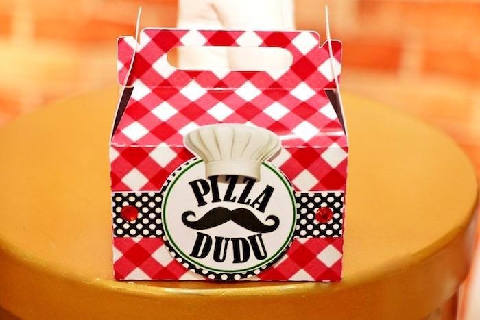 Red + white checkered gable box from an Italian Pizzeria Birthday Party on Kara's Party Ideas | KarasPartyIdeas.com (22)
