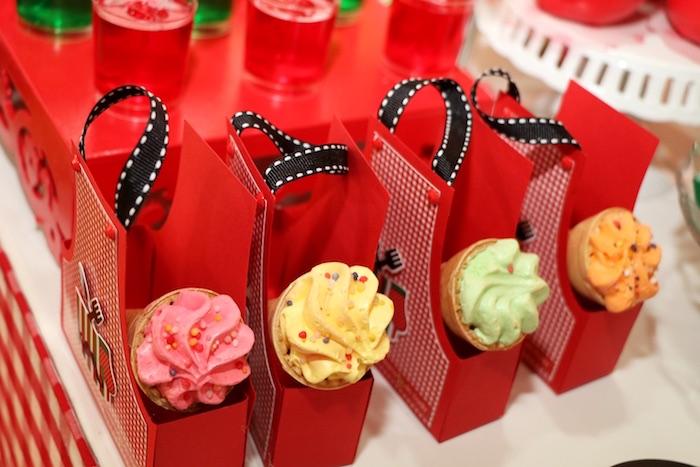 Apron favor bags from an Italian Pizzeria Birthday Party on Kara's Party Ideas | KarasPartyIdeas.com (14)