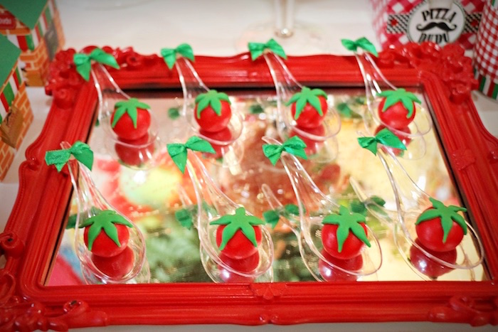 Tomato cake balls from an Italian Pizzeria Birthday Party on Kara's Party Ideas | KarasPartyIdeas.com (13)