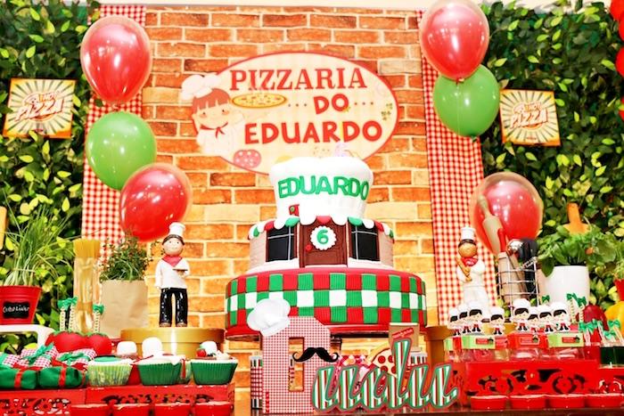 Cake from an Italian Pizzeria Birthday Party on Kara's Party Ideas | KarasPartyIdeas.com (38)