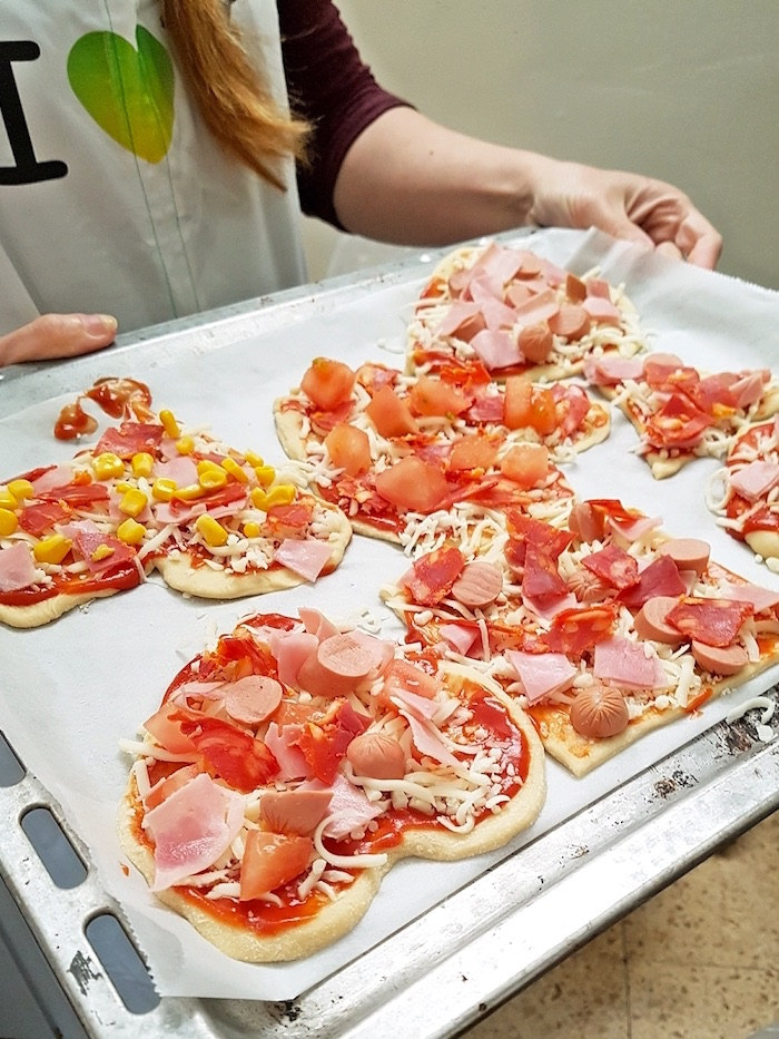 Personal pizzas from an Italian Pizzeria Birthday Party on Kara's Party Ideas | KarasPartyIdeas.com (5)