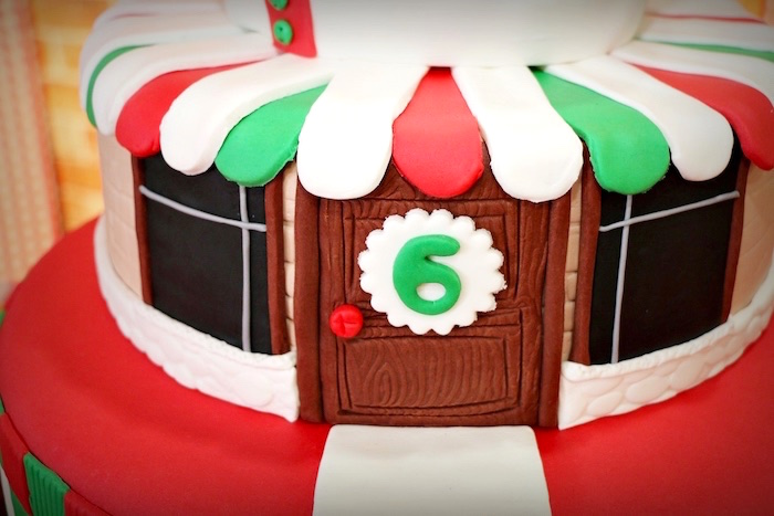 Pizzeria cake tier from an Italian Pizzeria Birthday Party on Kara's Party Ideas | KarasPartyIdeas.com (35)