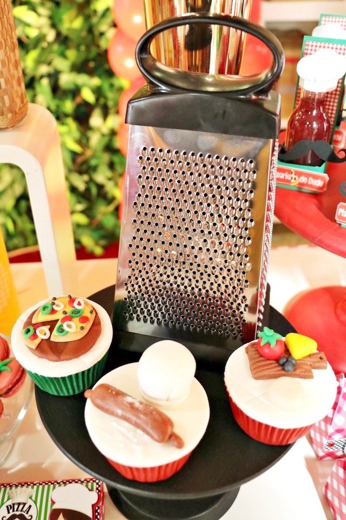 Pizzeria cupcakes from an Italian Pizzeria Birthday Party on Kara's Party Ideas | KarasPartyIdeas.com (32)