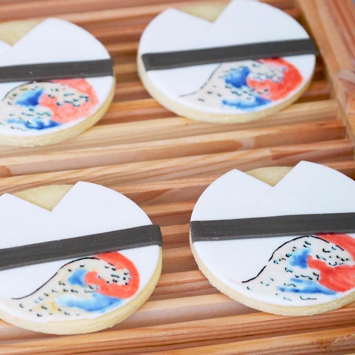 Sugar cookies from a Japanese Sumo Birthday Party on Kara's Party Ideas | KarasPartyIdeas.com (6)