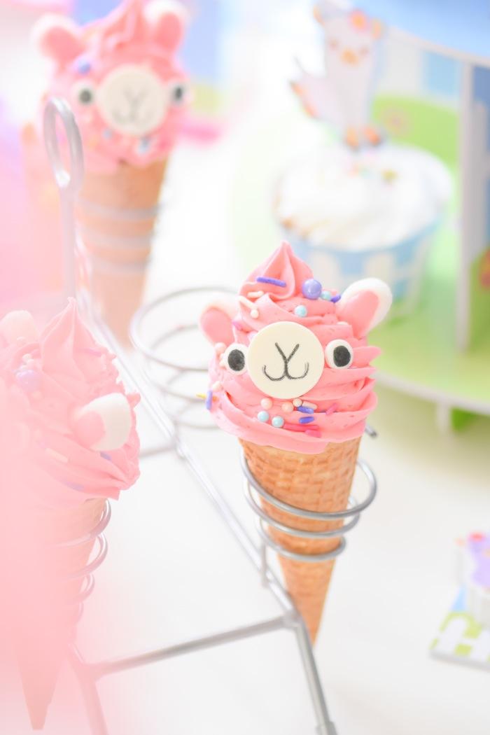 Kara S Party Ideas Llama Ice Cream Cone Treats Kara S